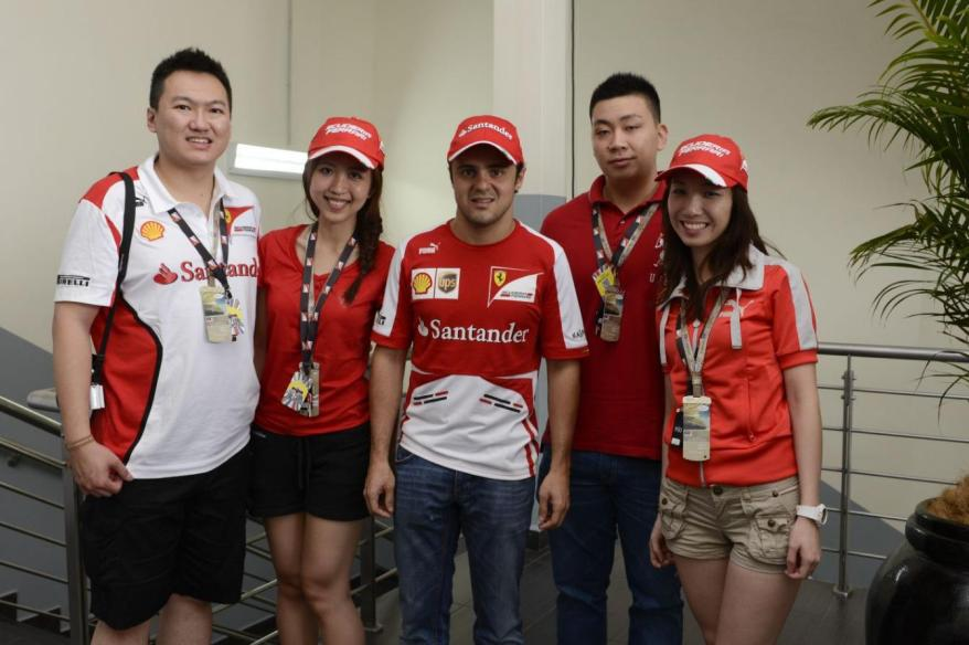 To meeting Felipe Massa during the Malaysian Formula One Grand Prix