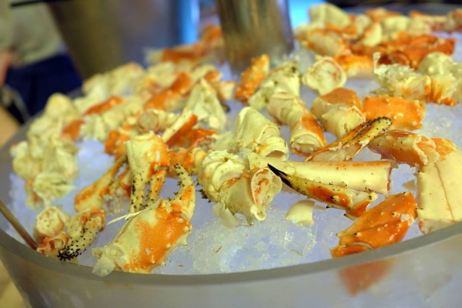 Luckily for us it was Alaskan King Crab season!