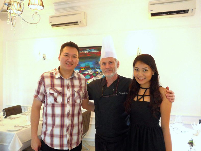 Nicole and me with Chef Thierry Le Baut