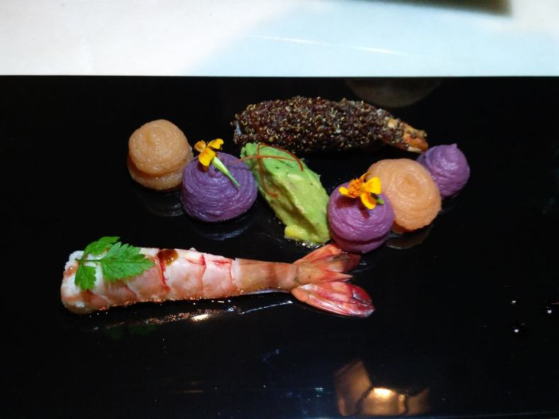 Colourful appetiser at Qba at The Westin KL