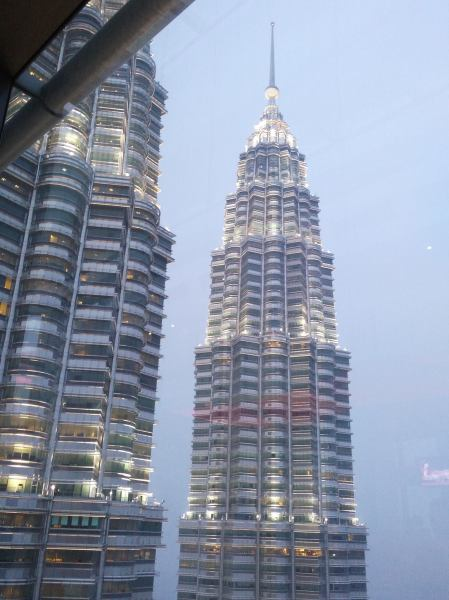 The customary photo of the Petronas twin towers