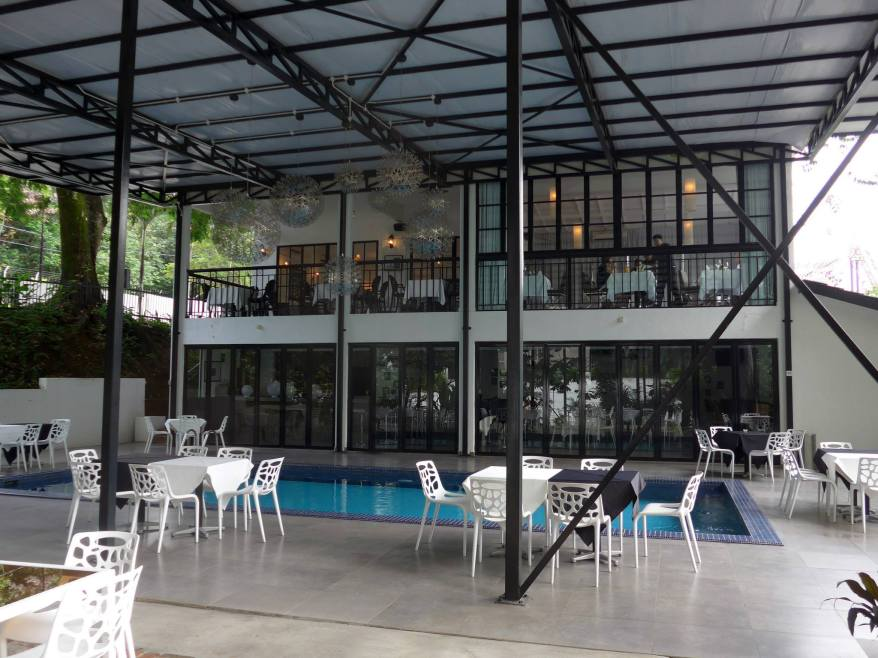 As the restaurant is a converted bungalow, it has three storeys and a little swimming pool on the lower ground level which also caters for al fresco dining and can fit up to 200 pax during events