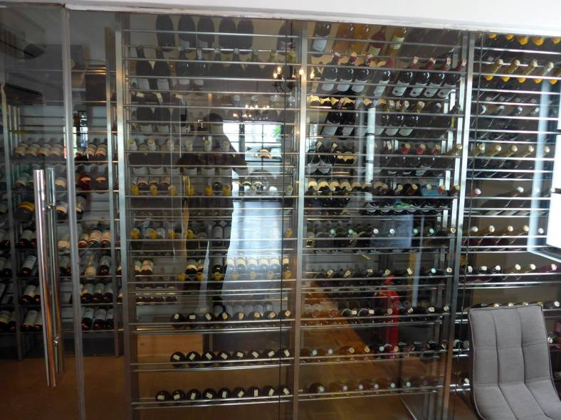 The wine cellar houses over 150 premium wines from France, some of which are pretty rare!