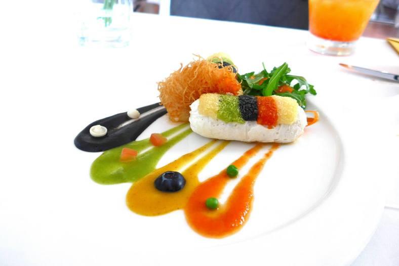 Appetiser 3 -Dover Sole Farci, Sauce Au Safron, Gambas Kanaki