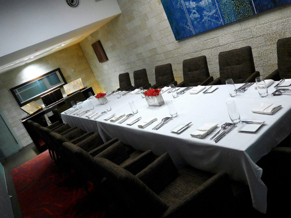 There's even a private dining room which fits up to a dozen persons