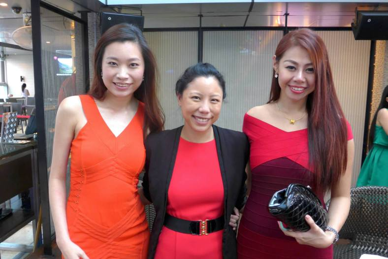 Valerie and Evonne with Zhen from Traders Hotel