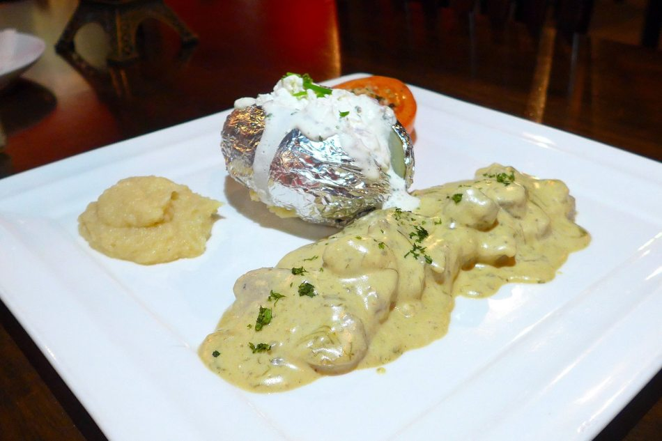 Pork tenderloin with French cepes mushrooms sauce - RM38.00