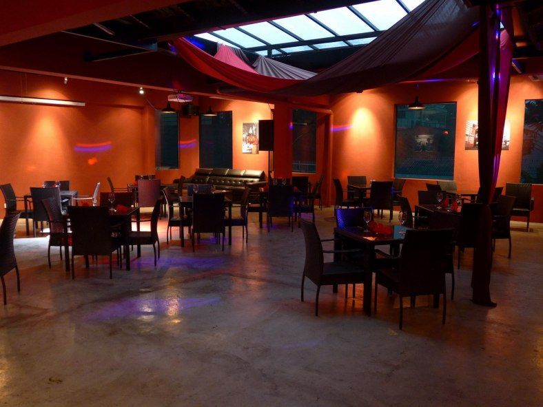 The upstairs level can be booked for private functions