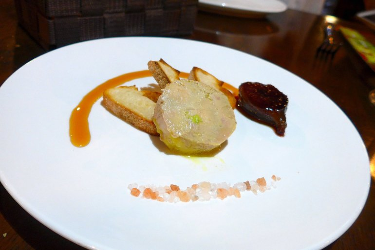 Semi Cooked Foie Gras Terrine with Salad and Fig Compote - RM42.00