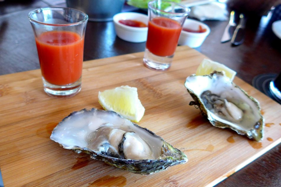 Fresh oysters and Bloody Mary shooters to chase it