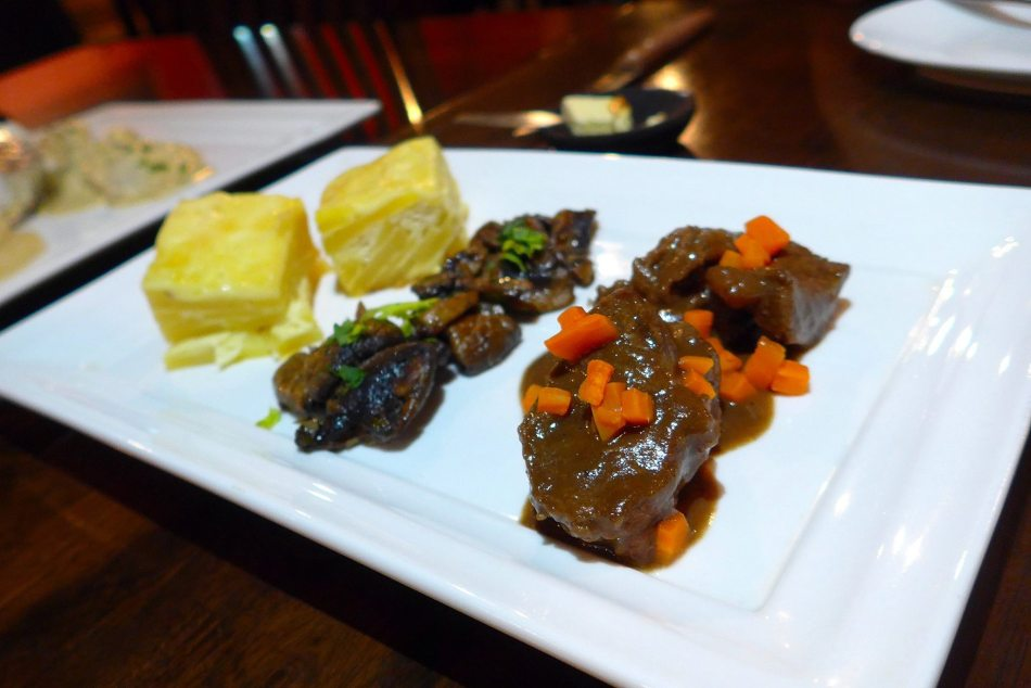 Beef bourguignon style with red wine reduction - RM49.00