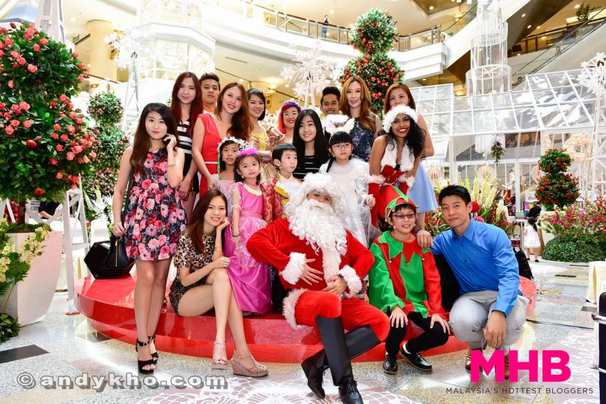 Group pic with Santa