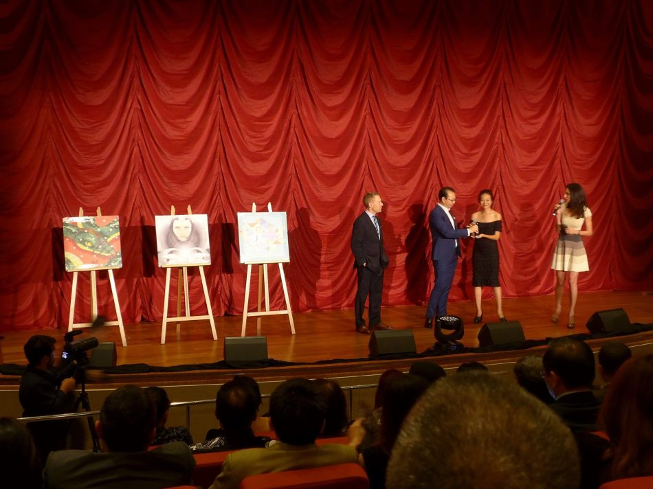 The show was performed in conjunction with World AIDS Day on December 1st and ALL proceeds will be going to charity. There were also 3 paintings auctioned off whereby all proceeds went to charity as well.