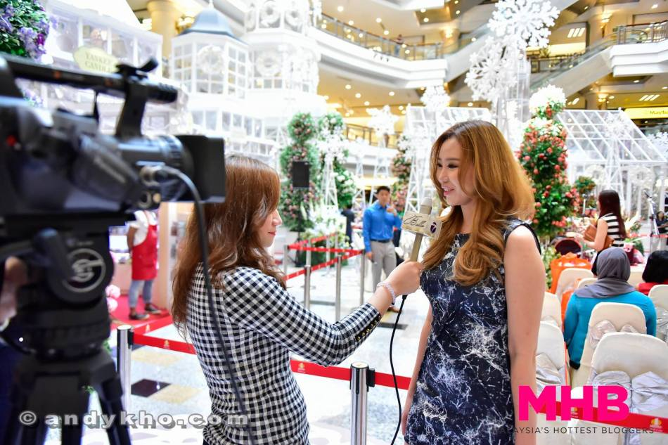 Chelsea being interviewed by one of the TV stations