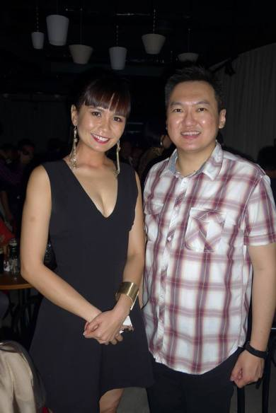 With actress Aenie Wong