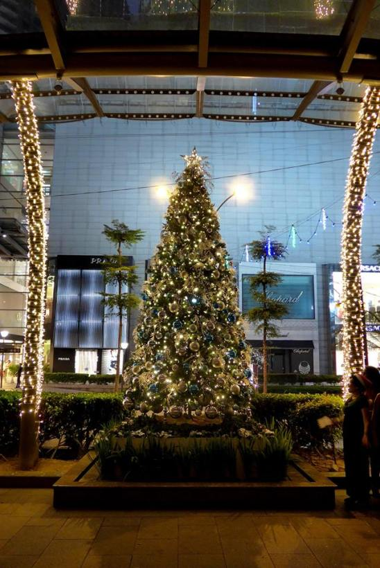 The Christmas tree is officially lit by Westin KL's General Manager Mr. Van Den Hil