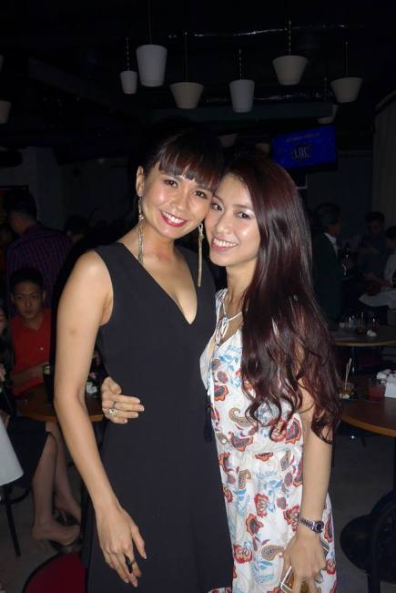 Actress Aenie Wong with Eva Lian