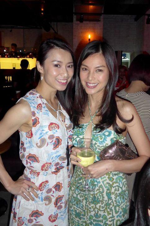 MC Eva Lian with model Carmen Soo who's still so pretty even though she's already 38