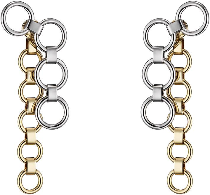 Dior Shades earrings in metal with palladium and gold finish