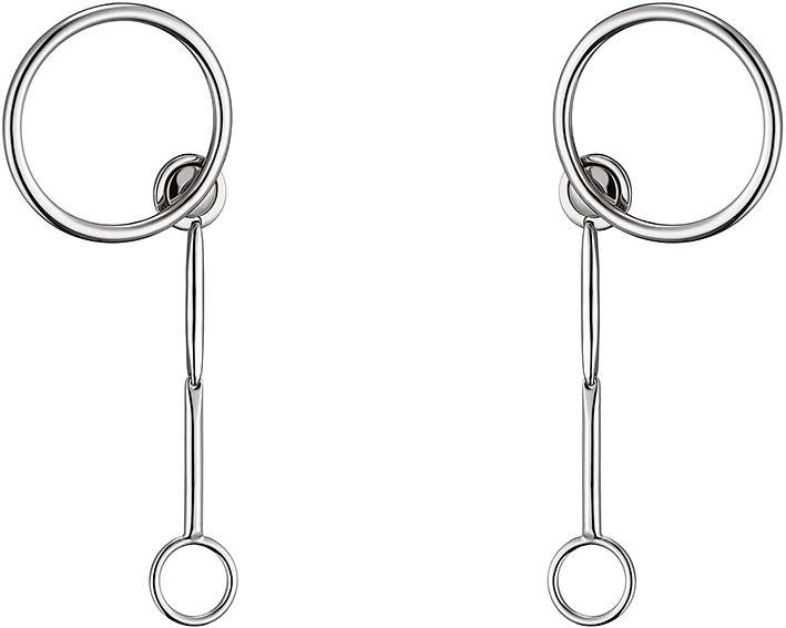 Dior Shades earrings in metal with palladium finish