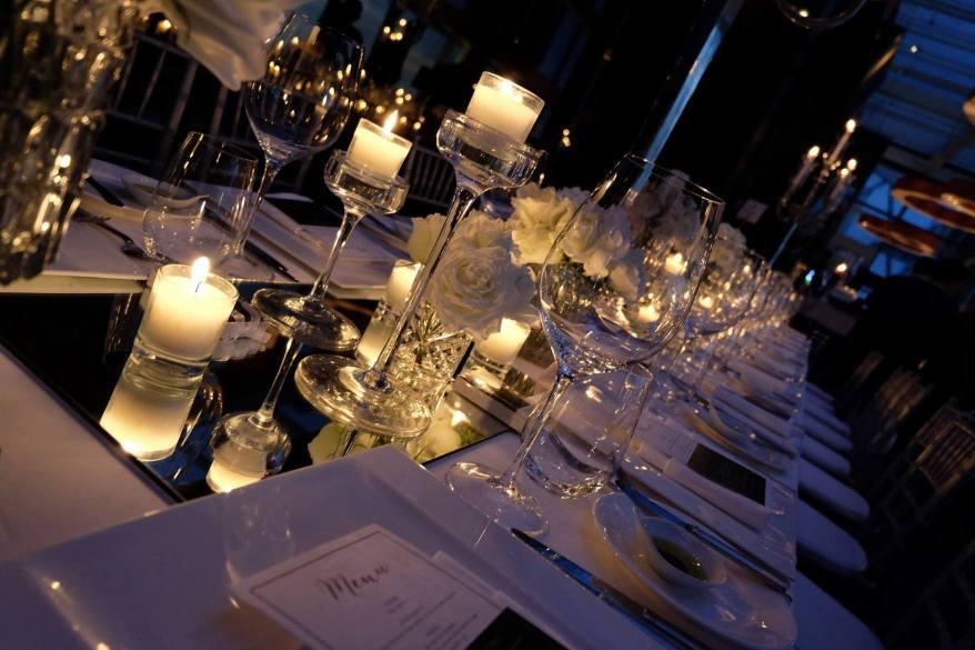 The very romantic dinner setting