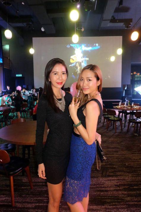 Former runway models June Yap and Brigette Yu (L-R)