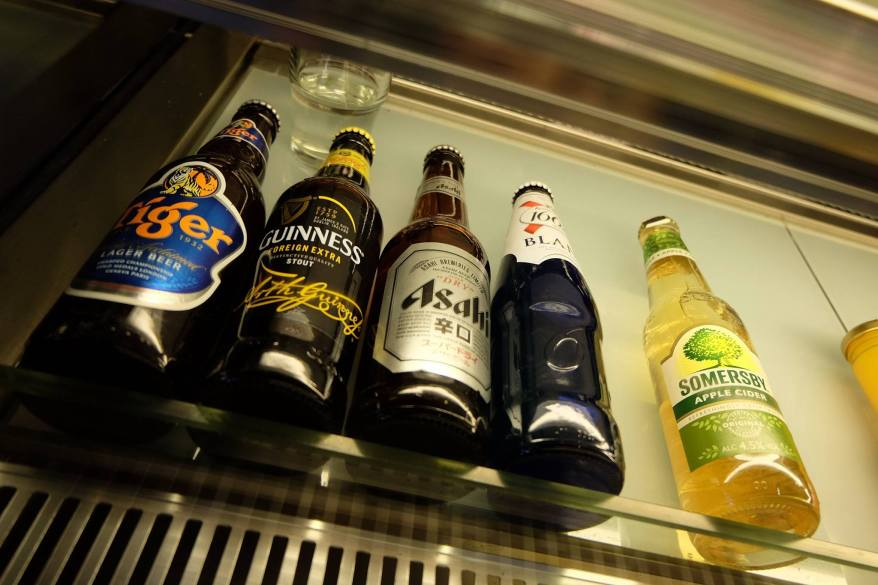 If you want something a little stronger, there are bottled beers available too!