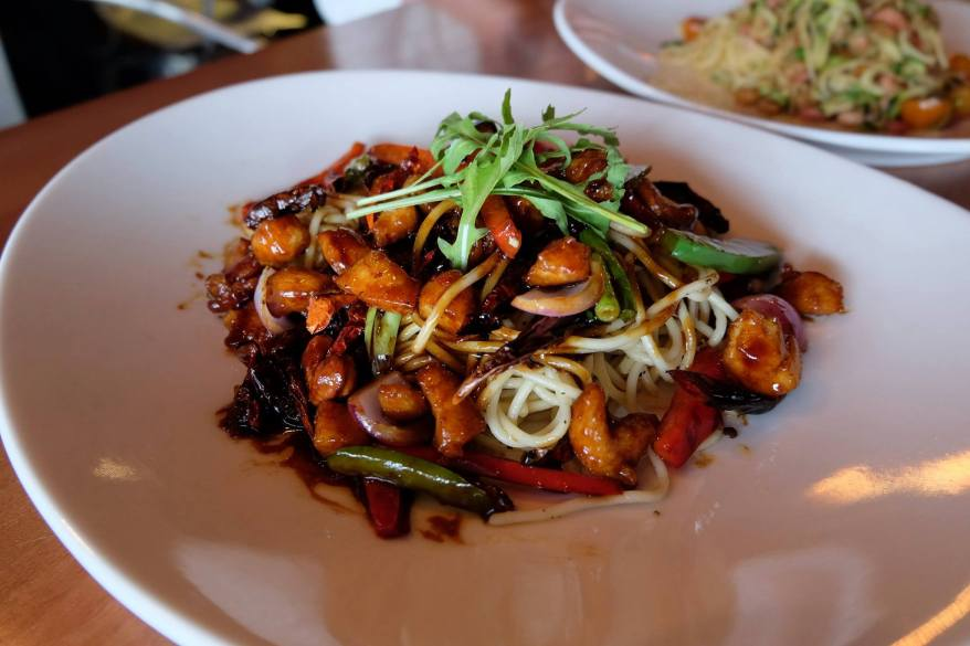 """Kapowww"" Spaghetti - RM18.00 - spicy wok fried spaghetti with kung pow chicken"