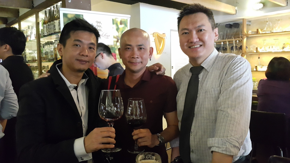 Andy and myself with my old schoolmate Joo Guan