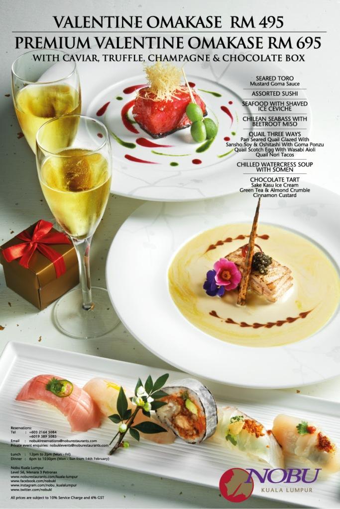 Nobu KL Valentine's Day menu