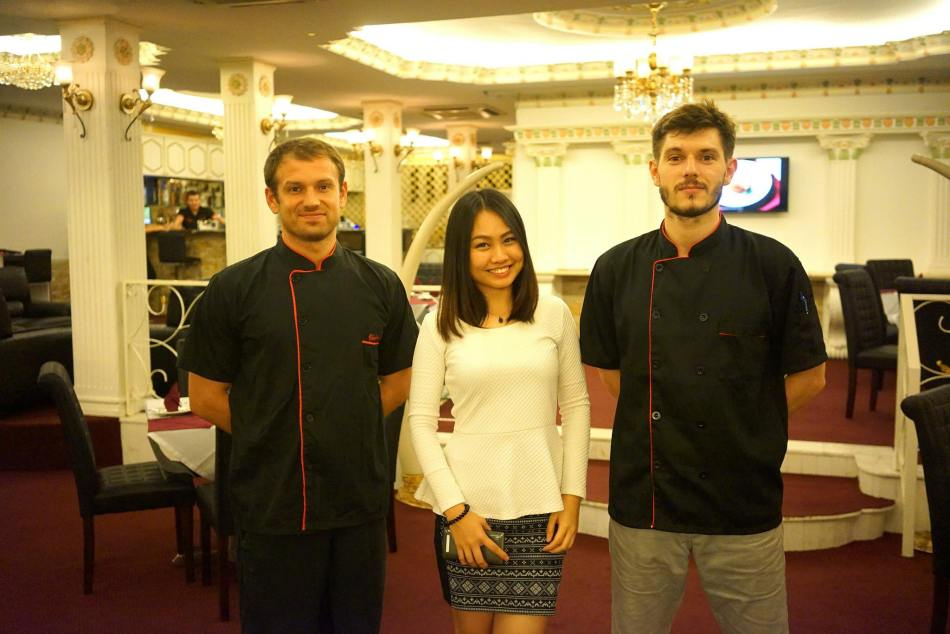 With the chefs