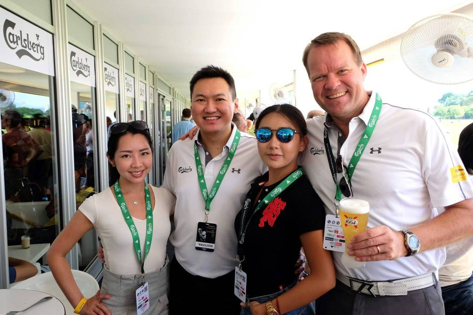 Janet, yours truly, Michelle Lee from Astro, and Henrik Andersen the Managing Director of Carlsberg Malaysia