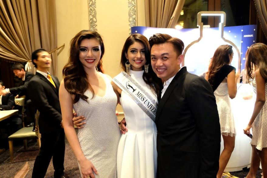 Then it was off to the after party. Here is Shawn Loong, owner of the official hair partner Shawn Cutler with Kiran and Carey Ng