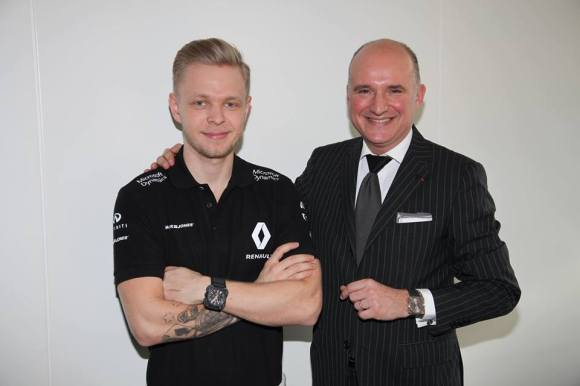 Kevin Magnussen and Mr Carlos Rosillo, CEO of Bell & Ross