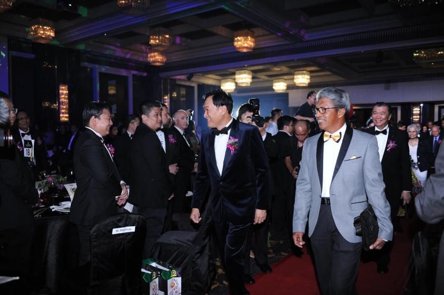 Dr. KK Johan entering with the VIPs