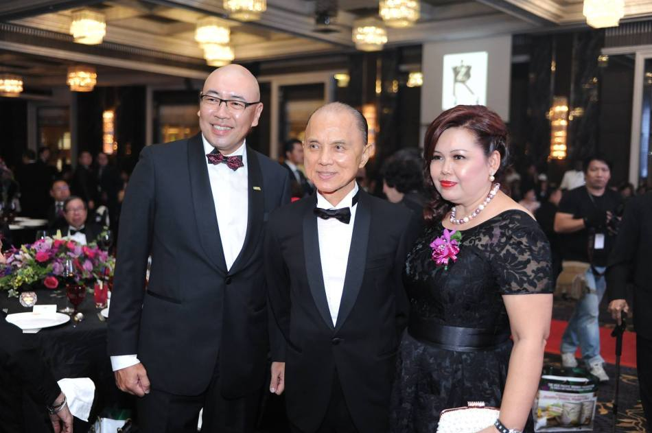 Jimmy Choo was among the guests of honour and everyone wanted to take a photo with him