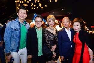Winnie Loo and Jimmy Choo with friends