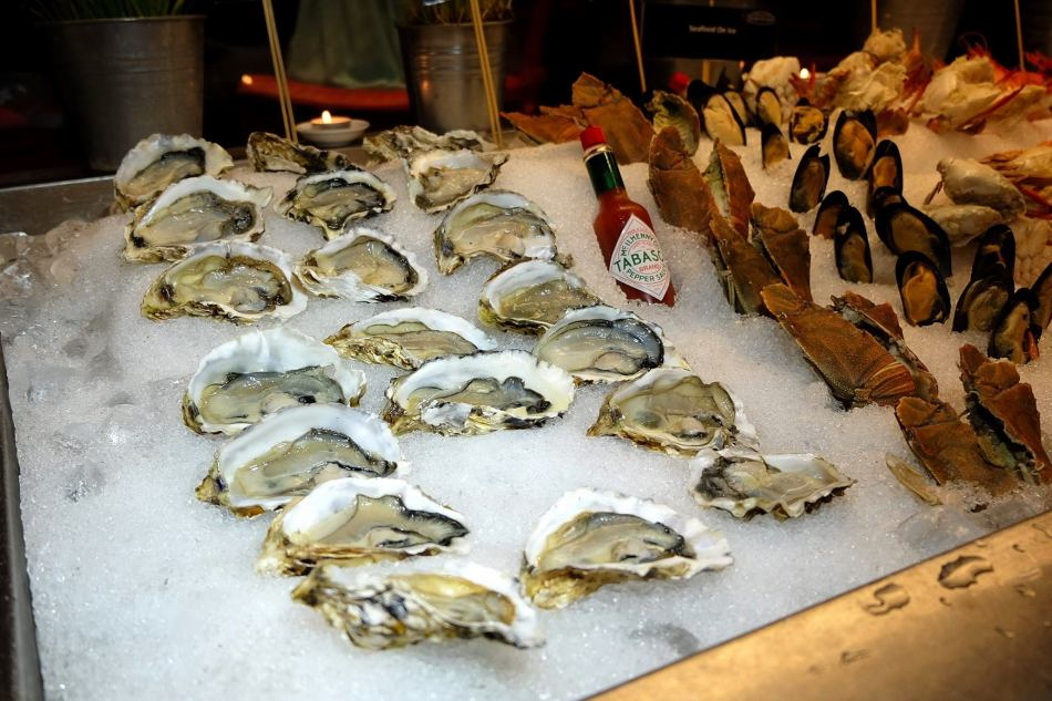Oysters and fresh seafood