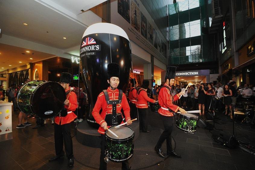 The British Military Marching Band launching the night's festivities