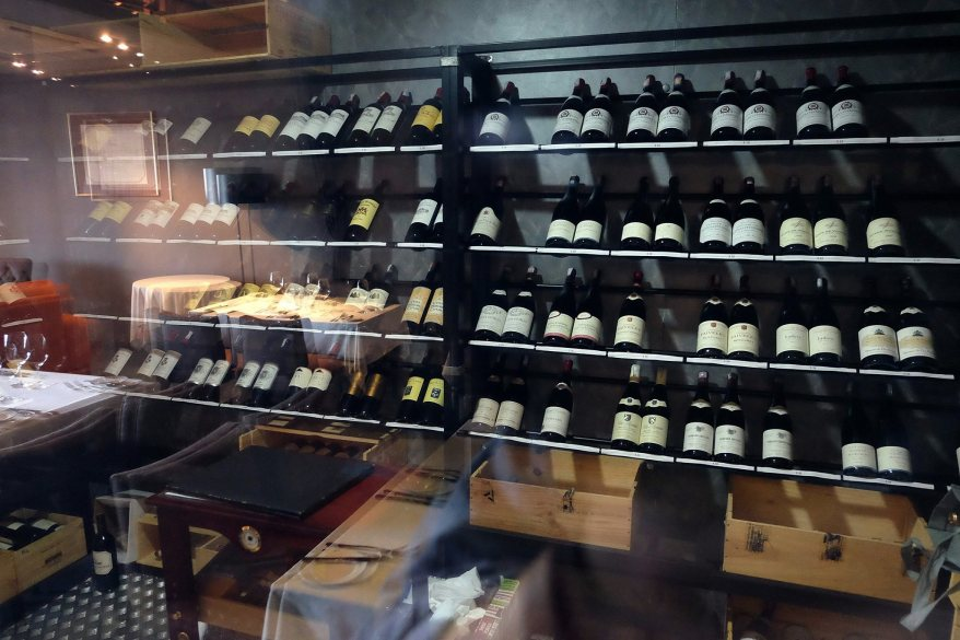 This is the wine cellar which is located on the first floor