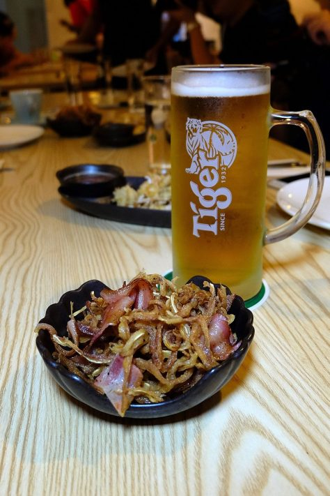 This dish goes really well with beer