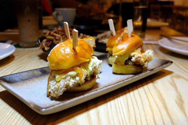 Chicken Karaage Bun with Pickled Papaya and Wasabi Mayo - RM8 per bun