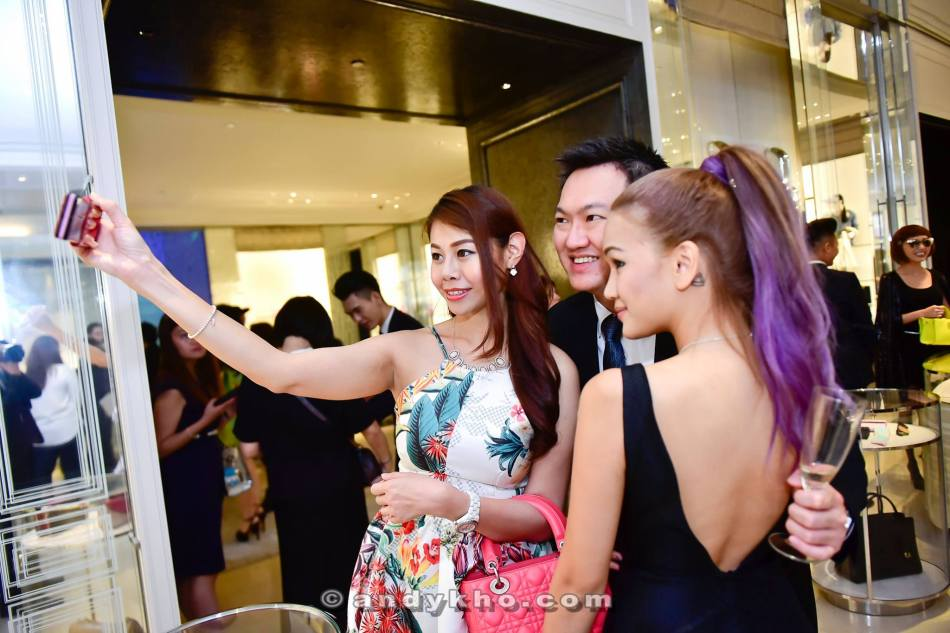 Taking a selfie with the girls