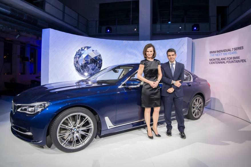 Head of Product Management Automobile und Aftersale of BMW, Hildegard Wortmann & Montblanc International CEO, Jerome Lambert