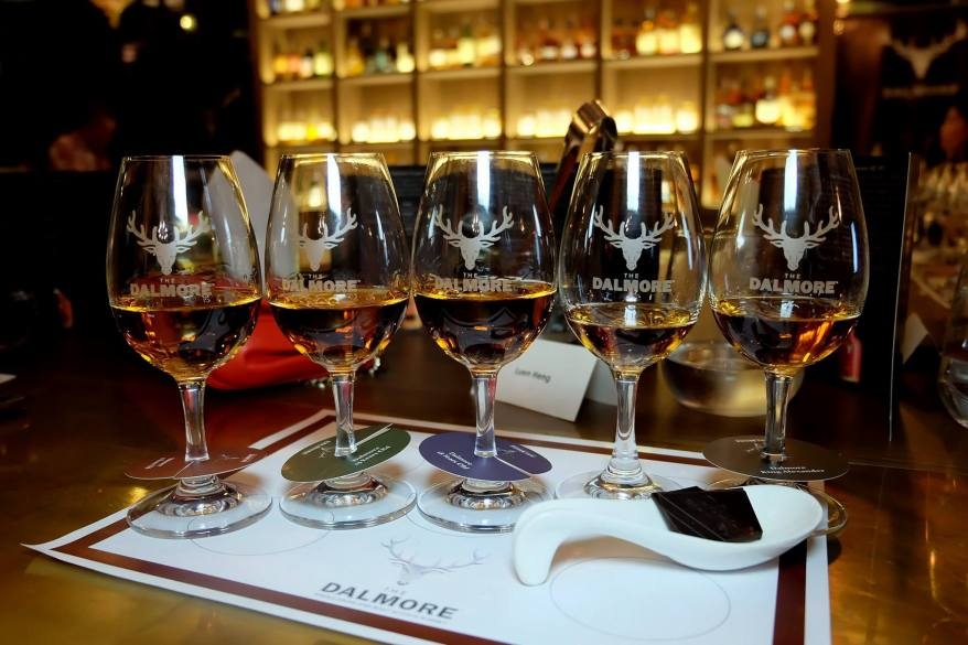 The 12, 15, 18, Cigar Malt Reserve, and King Alexander III (left to right)