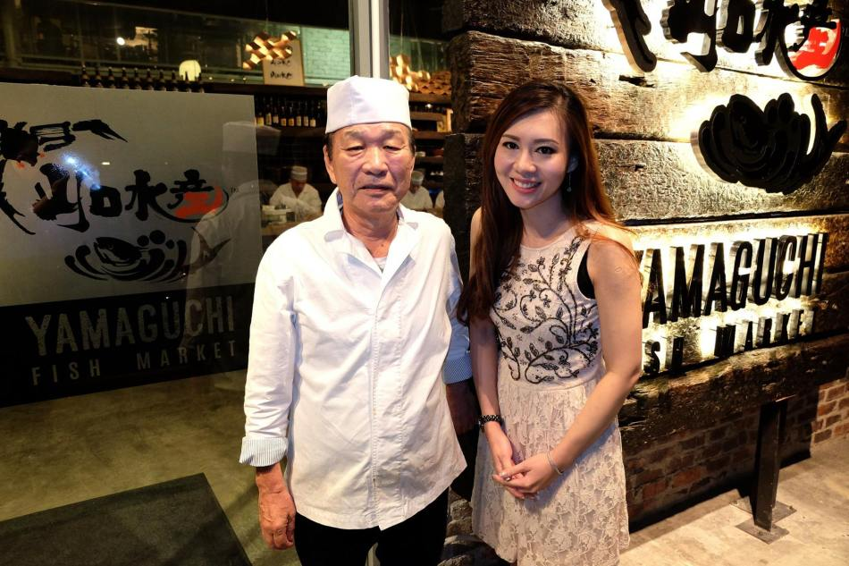 Rachel with Chef Tanabe