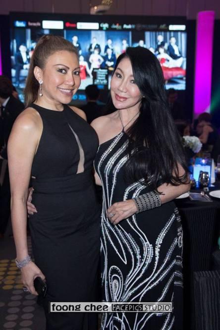 Datin Maylene (R) with a friend