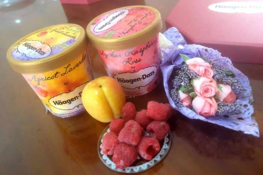 Haagen Daz Apricot Lavender Lychee Raspberry Rose (2)