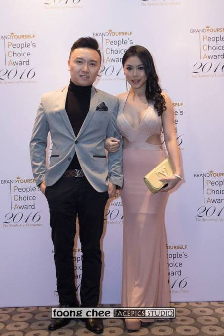 Kent Chua with wife Shirley Ding