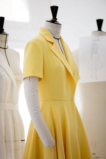 Kirsten Dunst Cannes Film Festival 2016 Dior Yellow Dress (1)